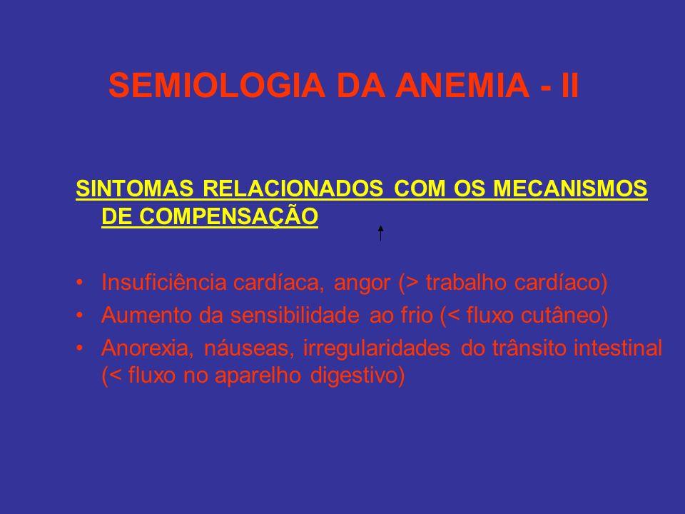 SEMIOLOGIA DA ANEMIA - II