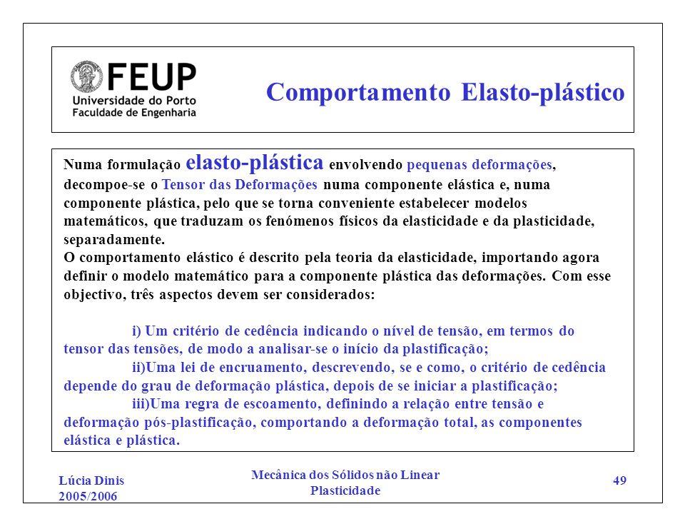 Comportamento Elasto-plástico
