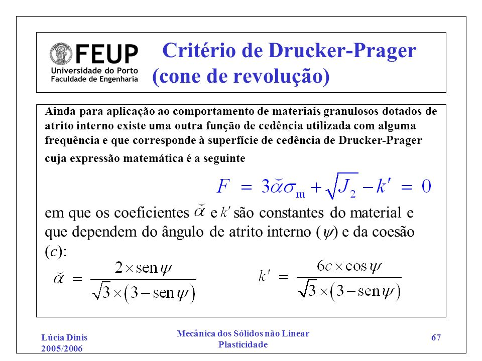 Critério de Drucker-Prager (cone de revolução)