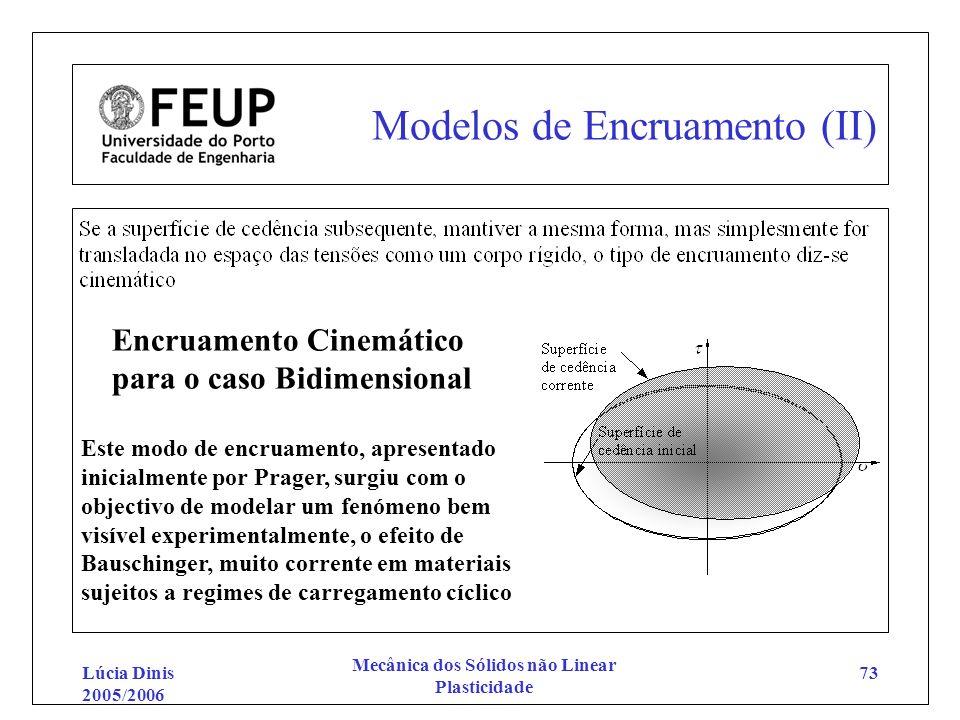 Modelos de Encruamento (II)
