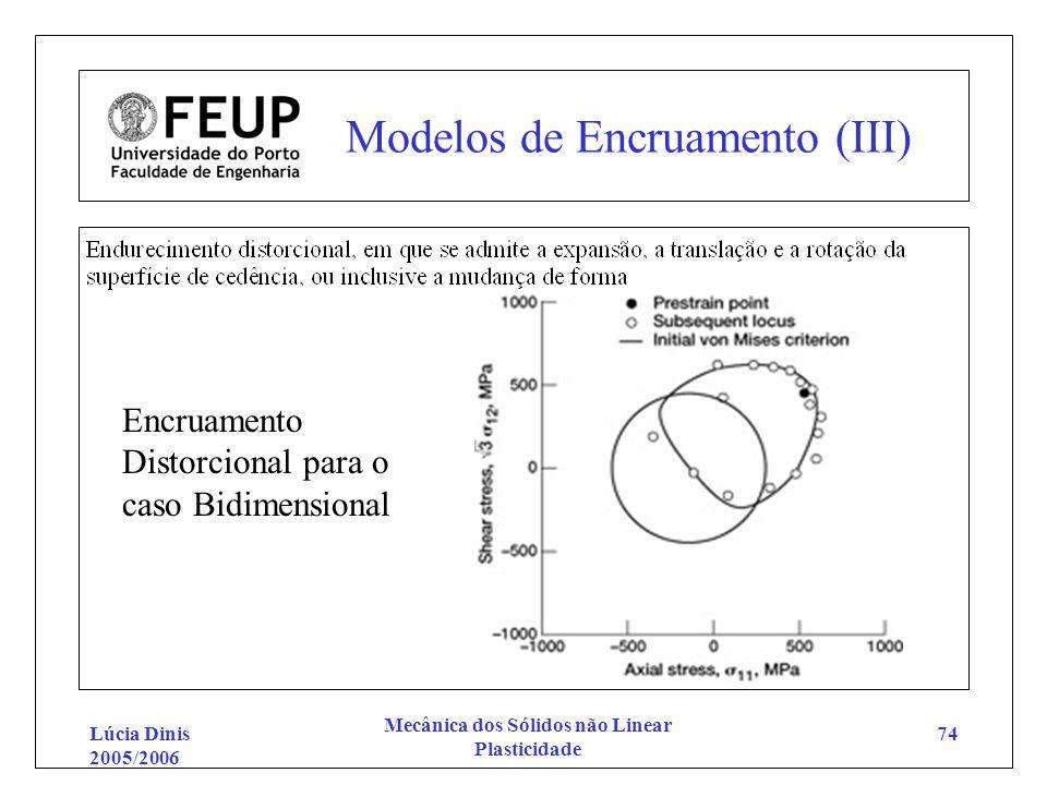 Modelos de Encruamento (III)