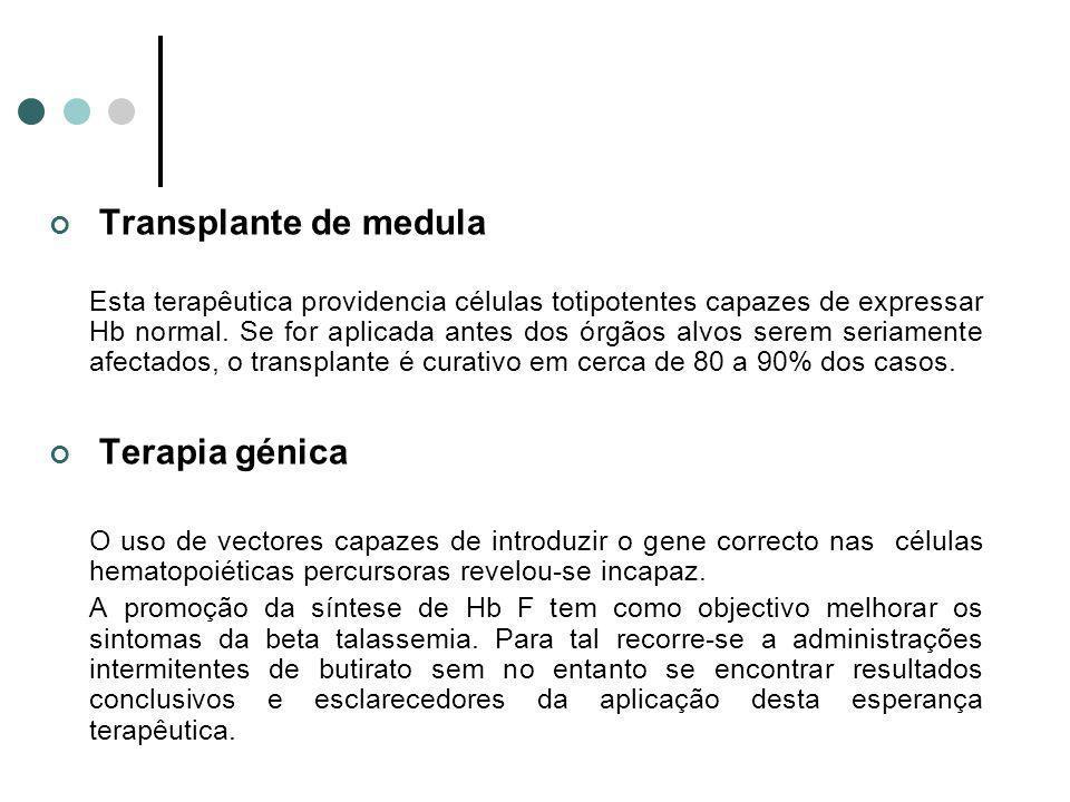 Transplante de medula Terapia génica