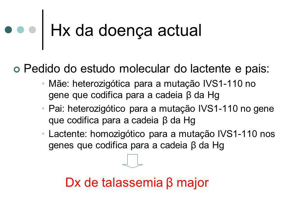 Dx de talassemia β major