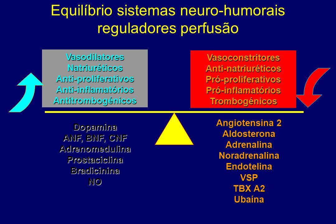 Equilíbrio sistemas neuro-humorais reguladores perfusão