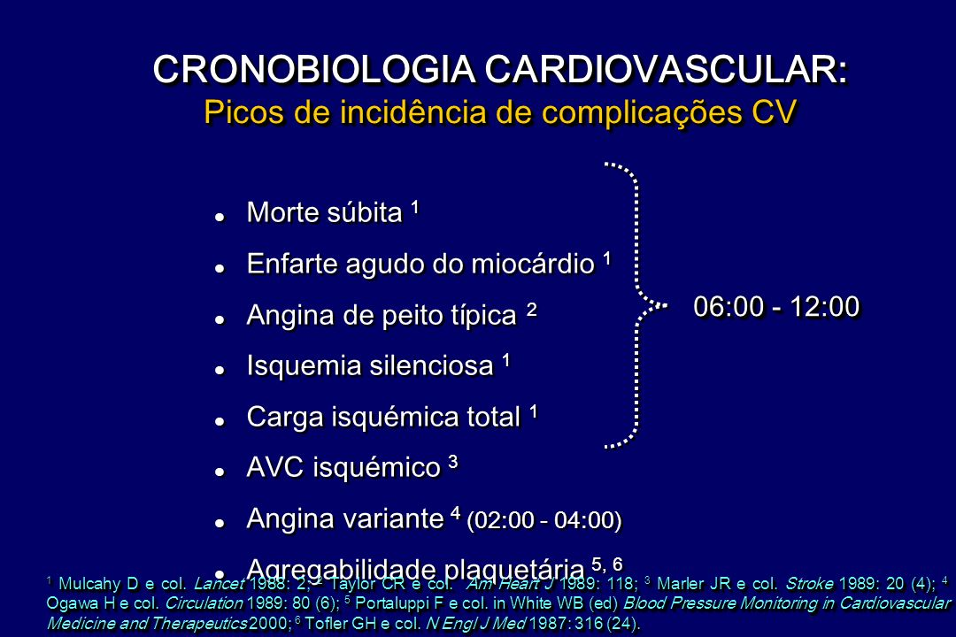 CRONOBIOLOGIA CARDIOVASCULAR: