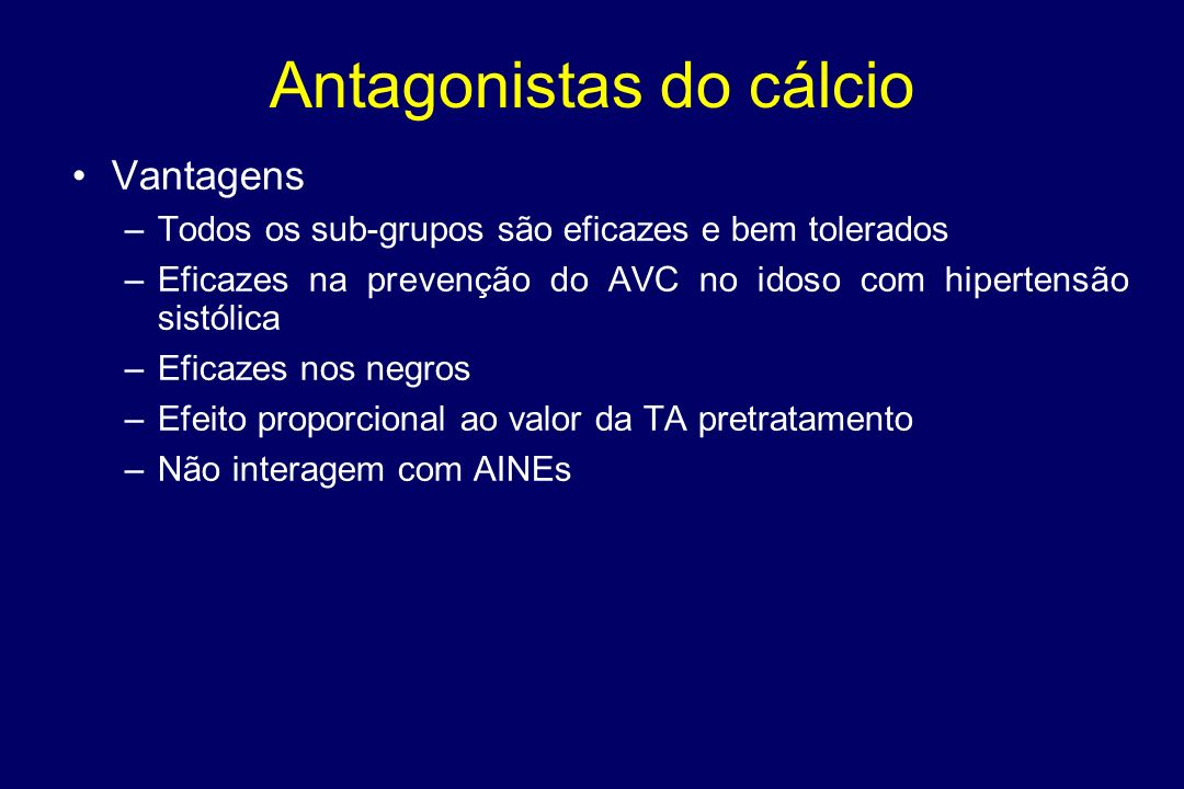 Antagonistas do cálcio