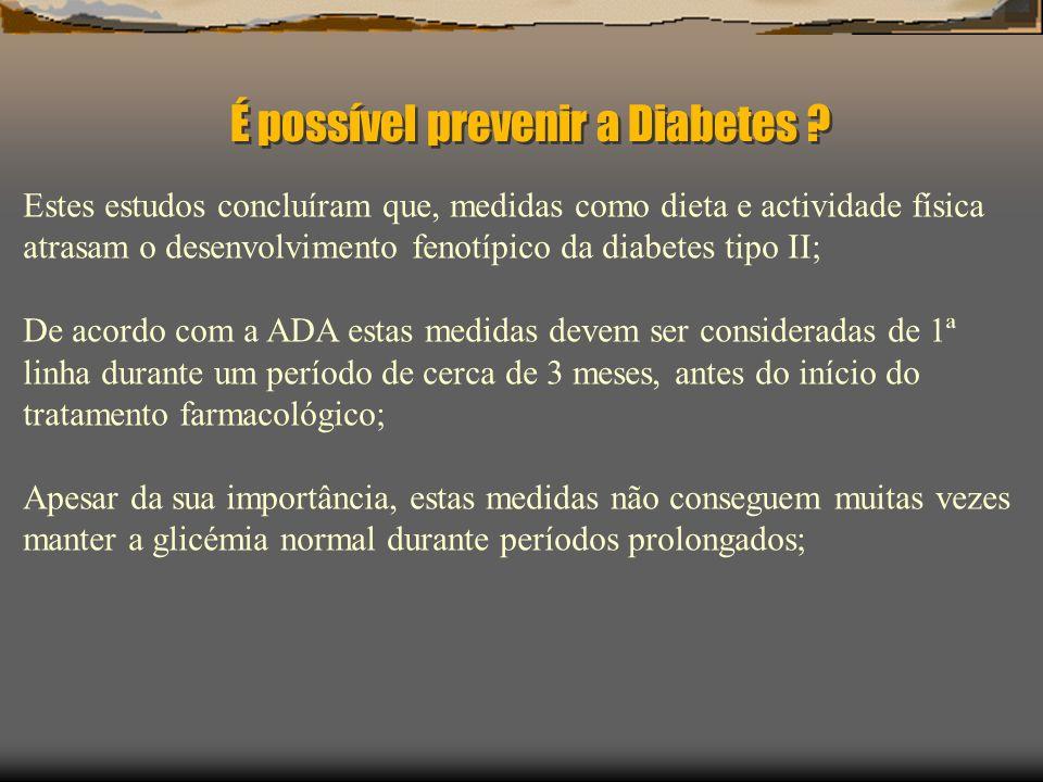É possível prevenir a Diabetes