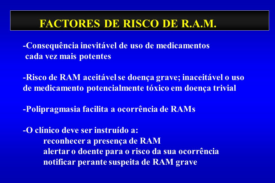 FACTORES DE RISCO DE R.A.M.