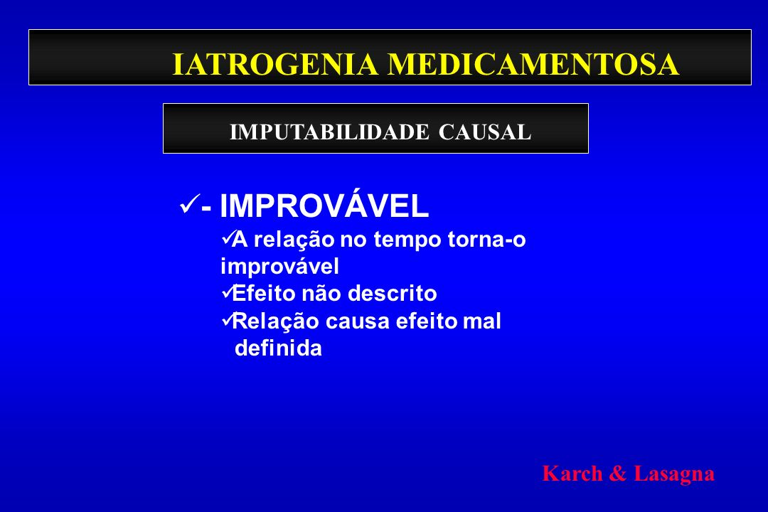 IATROGENIA MEDICAMENTOSA
