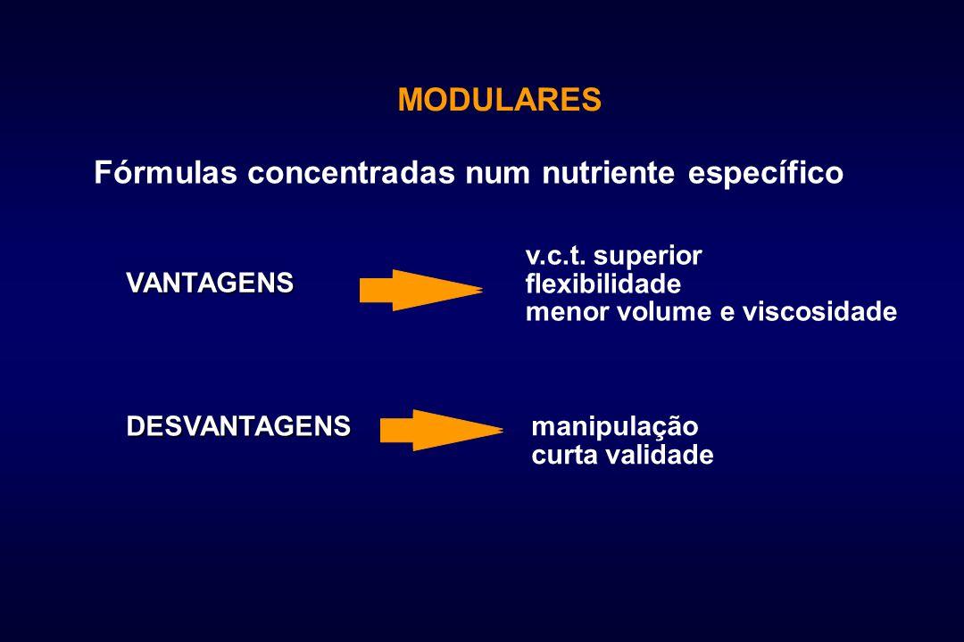 Fórmulas concentradas num nutriente específico