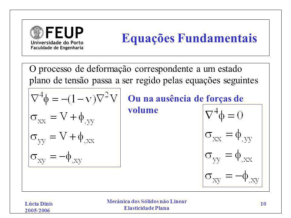 Equações Fundamentais