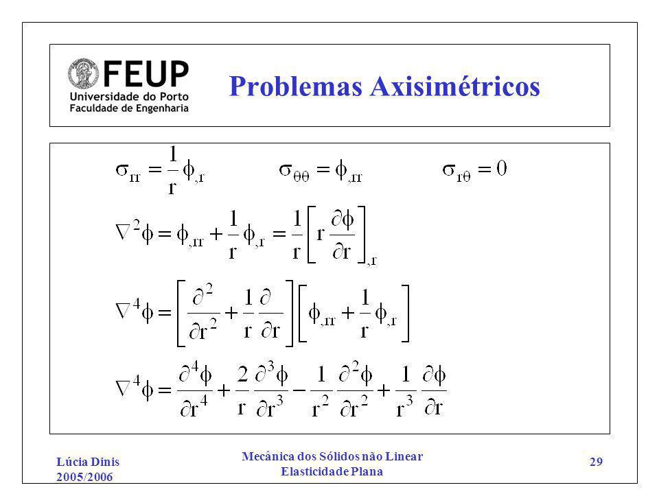 Problemas Axisimétricos