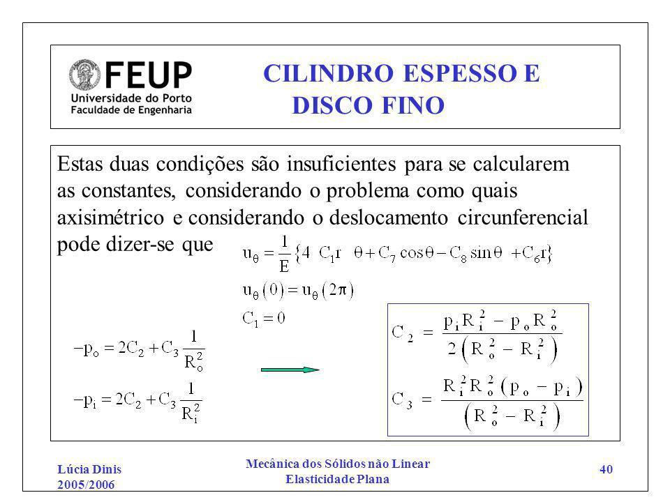 CILINDRO ESPESSO E DISCO FINO