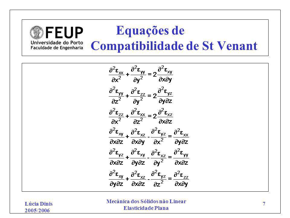 Equações de Compatibilidade de St Venant