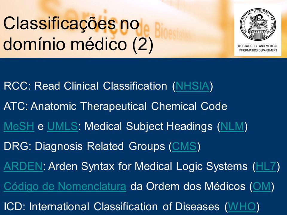 Classificações no domínio médico (2)