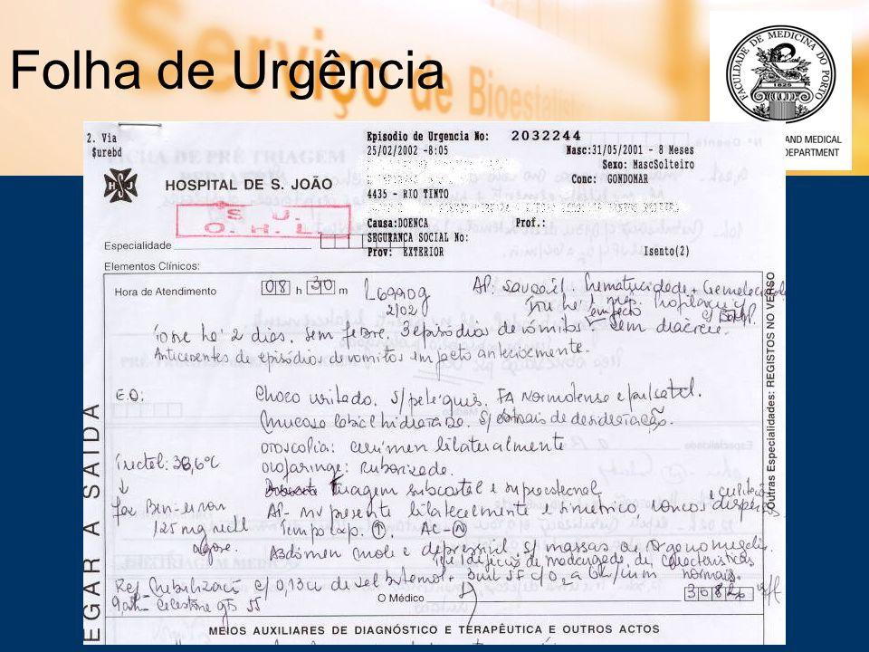 Folha de Urgência