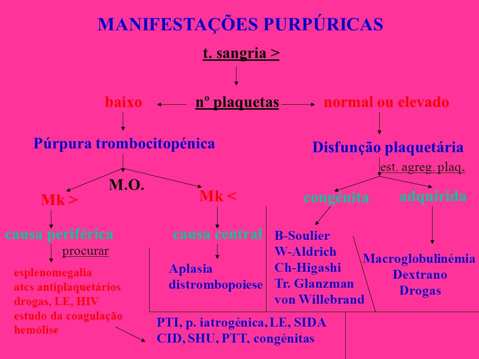 MANIFESTAÇÕES PURPÚRICAS