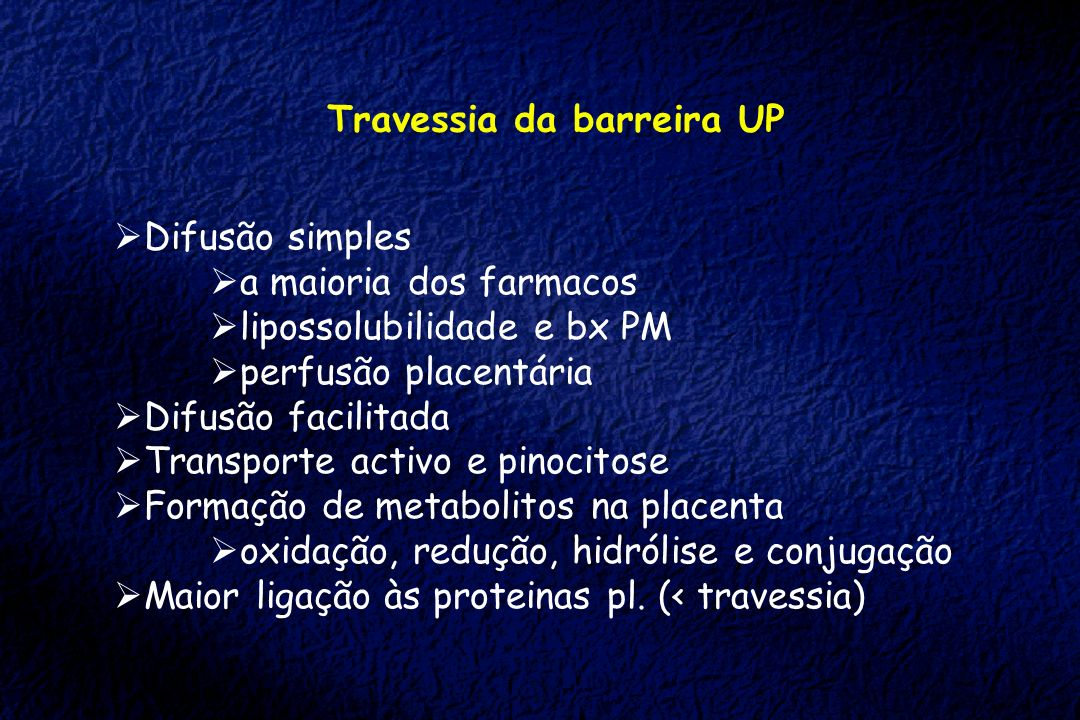 Travessia da barreira UP