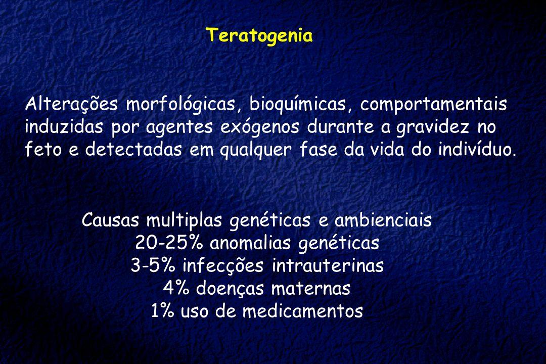 Alterações morfológicas, bioquímicas, comportamentais