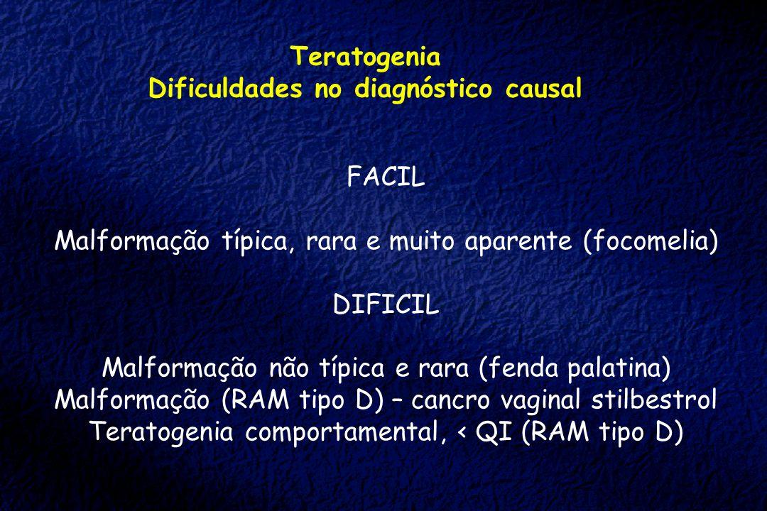 Dificuldades no diagnóstico causal