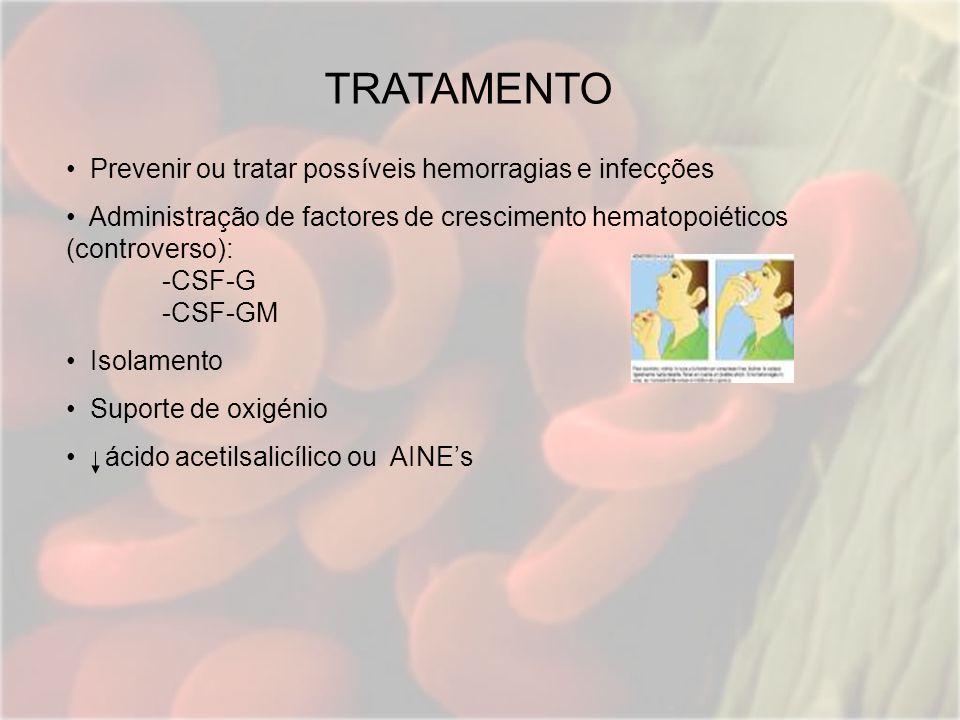 TRATAMENTO Prevenir ou tratar possíveis hemorragias e infecções