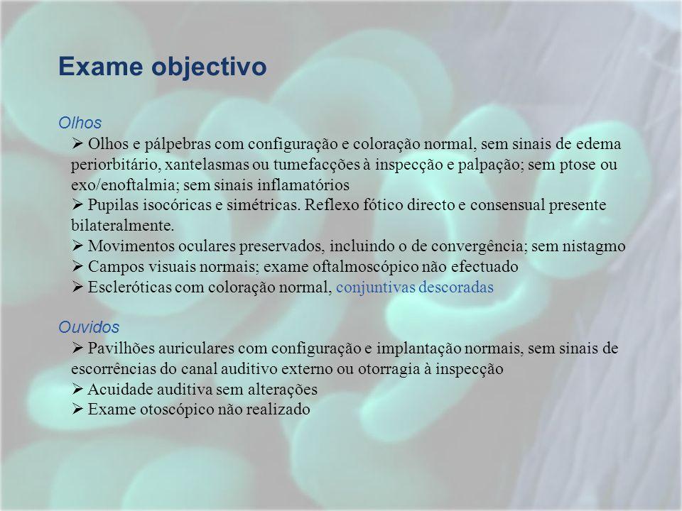 Exame objectivo Olhos.