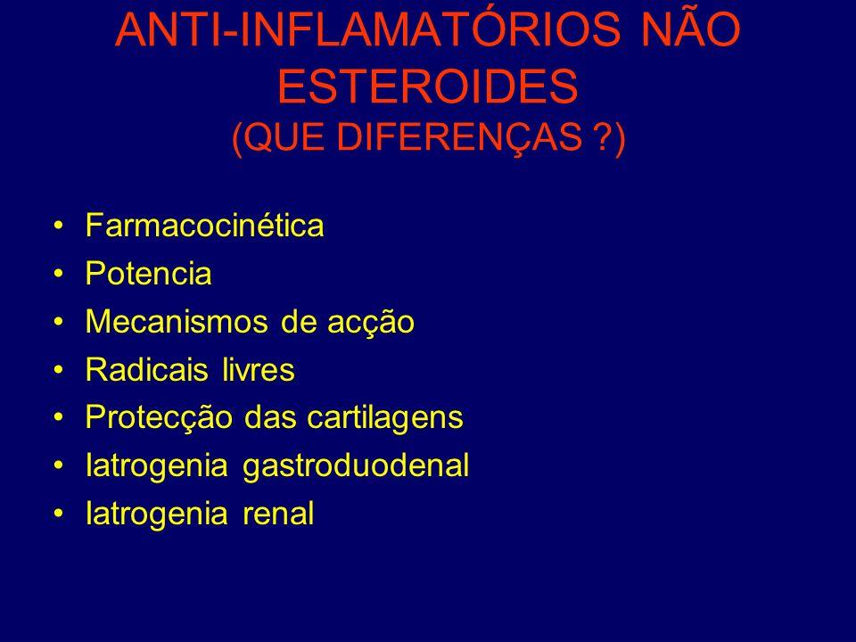 ANTI-INFLAMATÓRIOS NÃO ESTEROIDES (QUE DIFERENÇAS )