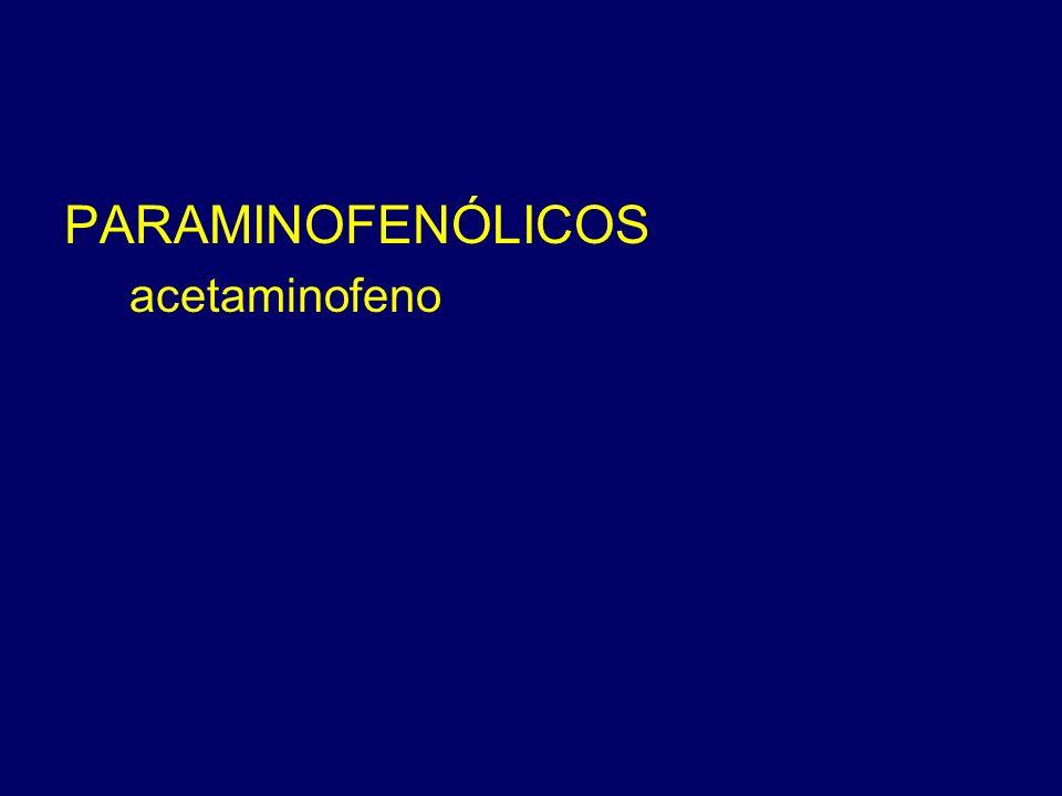 PARAMINOFENÓLICOS acetaminofeno