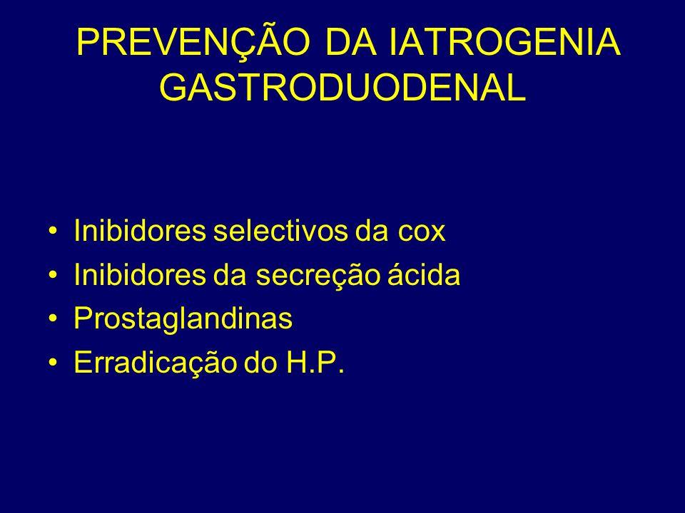 PREVENÇÃO DA IATROGENIA GASTRODUODENAL