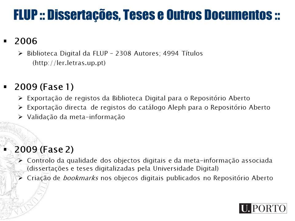 FLUP :: Dissertações, Teses e Outros Documentos ::