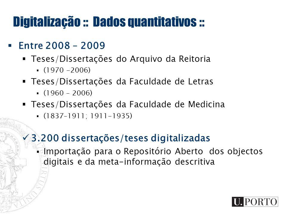 Digitalização :: Dados quantitativos ::