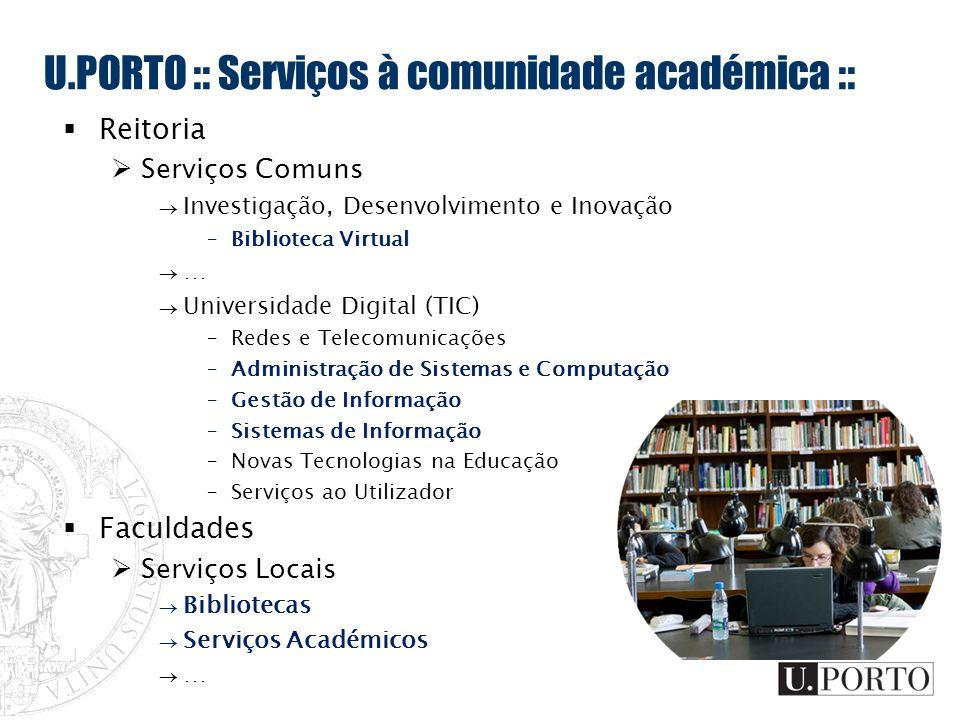 U.PORTO :: Serviços à comunidade académica ::
