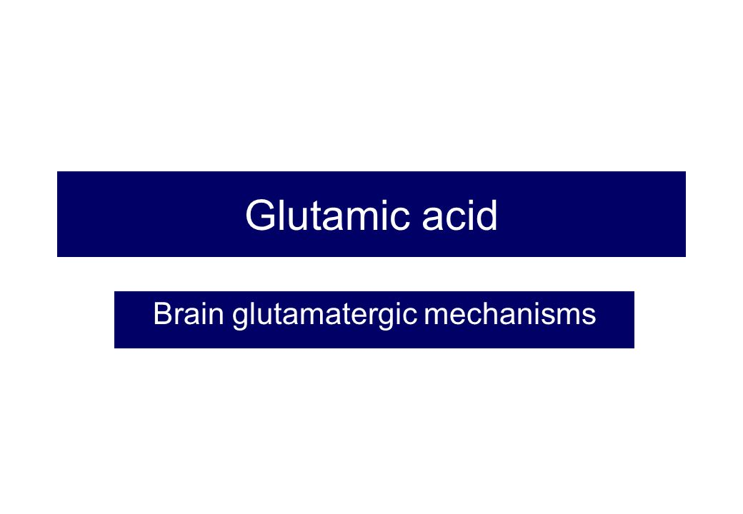 Brain glutamatergic mechanisms