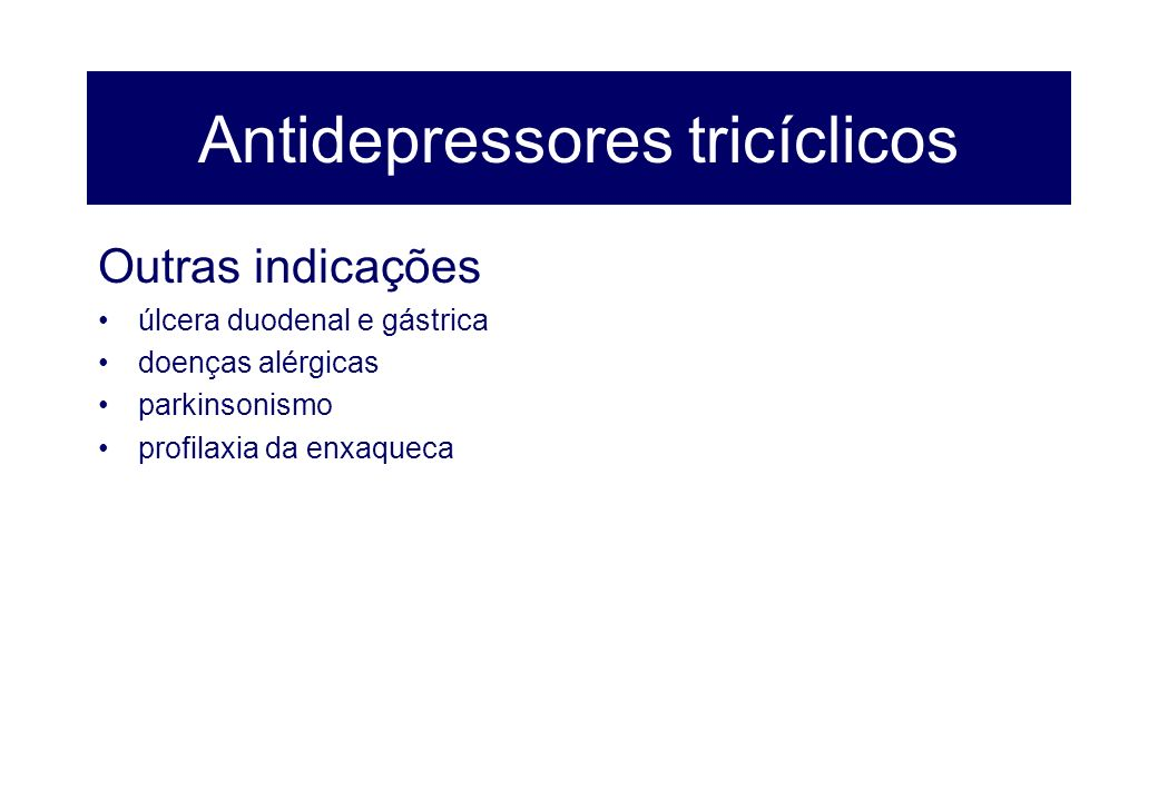 Antidepressores tricíclicos