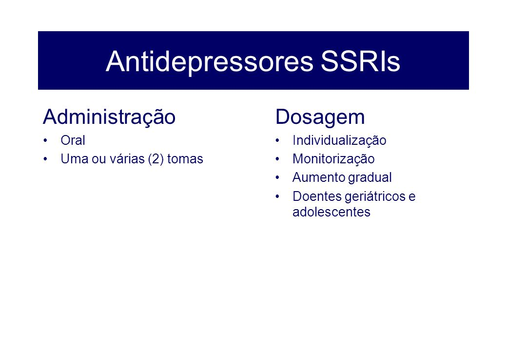 Antidepressores SSRIs