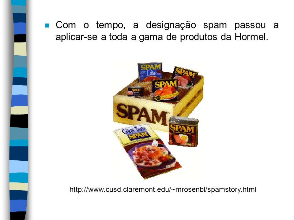 Com o tempo, a designação spam passou a aplicar-se a toda a gama de produtos da Hormel.