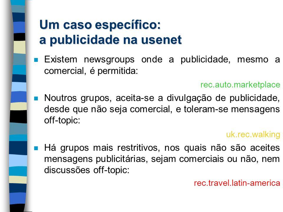 Um caso específico: a publicidade na usenet
