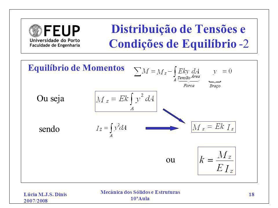 Distribuição de Tensões e Condições de Equilíbrio -2