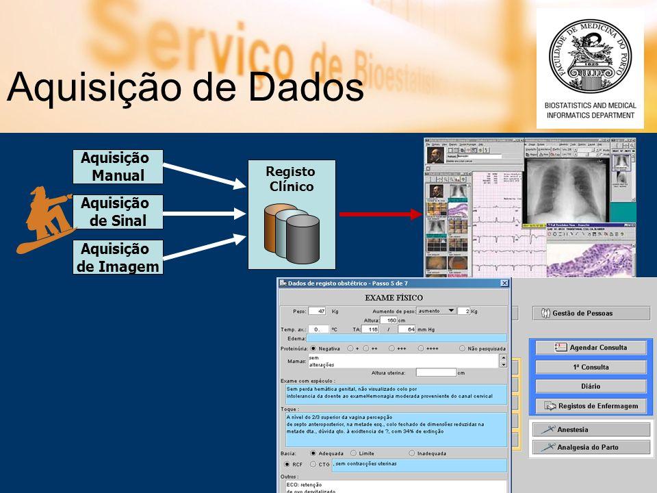 € Aquisição de Dados Aquisição Manual Aquisição de Sinal