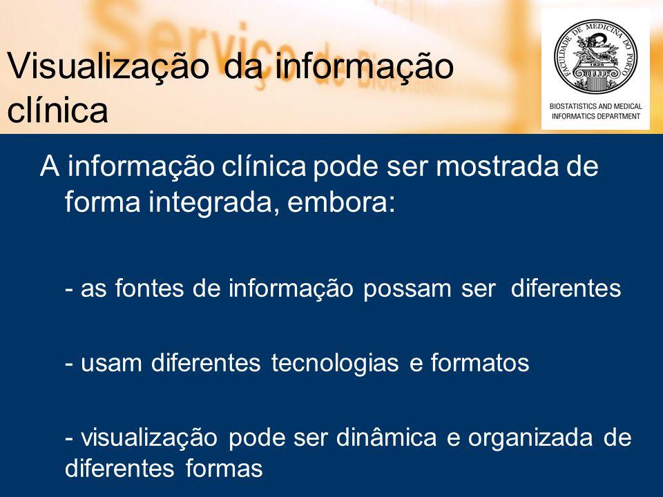 Visualização da informação clínica