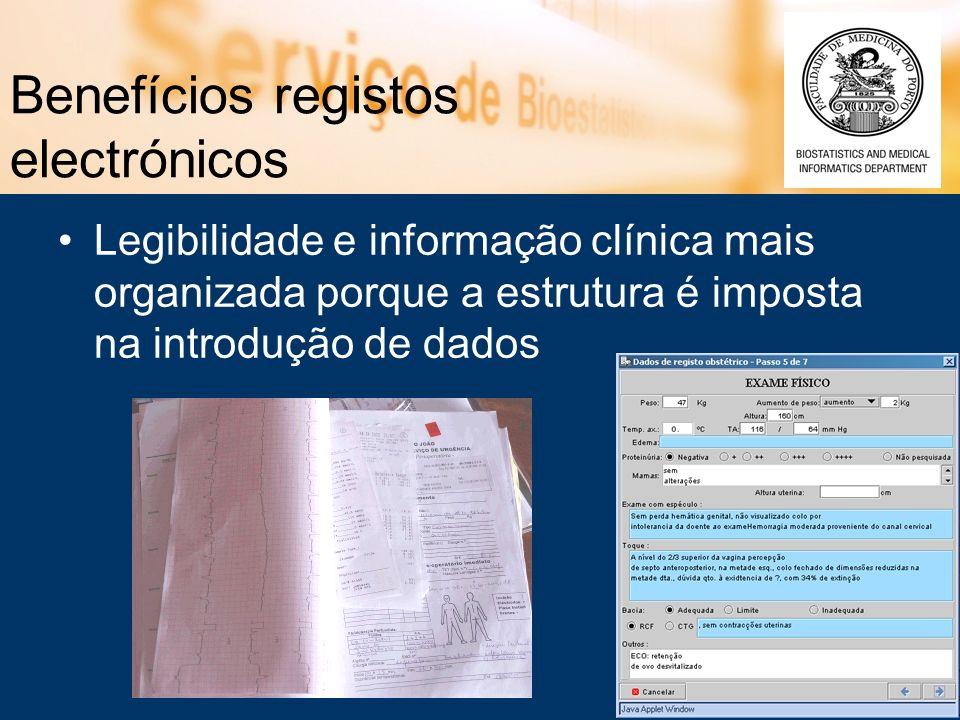 Benefícios registos electrónicos