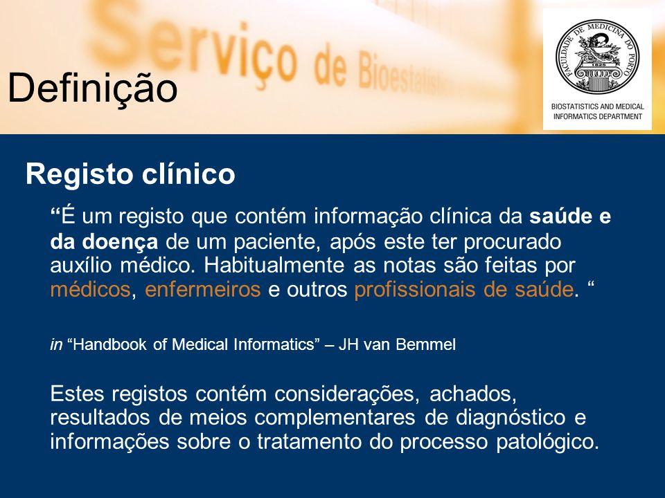 Definição Registo clínico