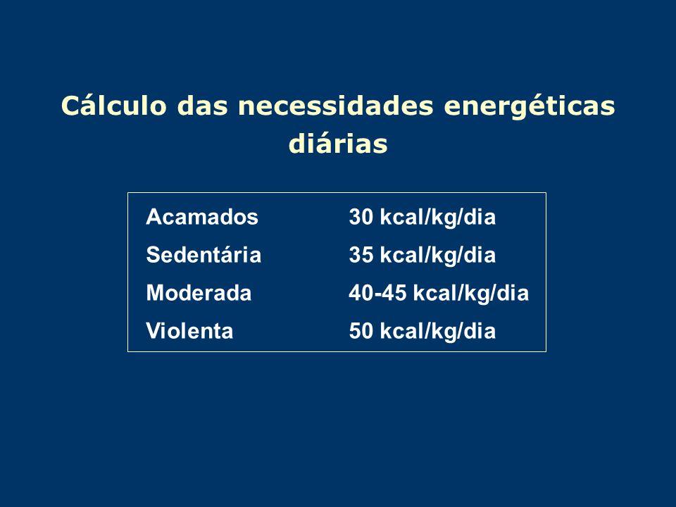 Cálculo das necessidades energéticas diárias