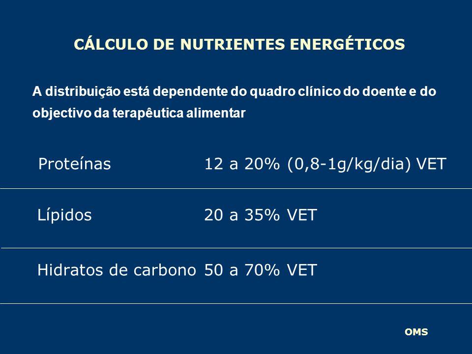 CÁLCULO DE NUTRIENTES ENERGÉTICOS