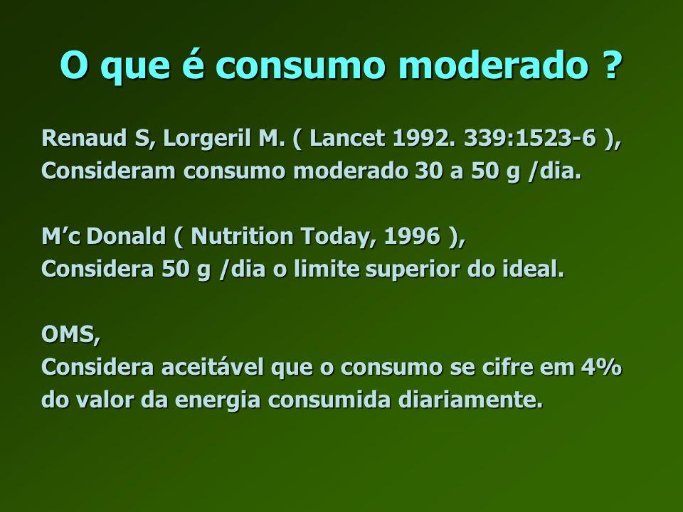 O que é consumo moderado