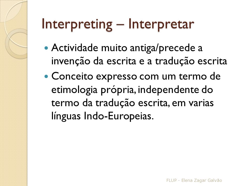 Interpreting – Interpretar