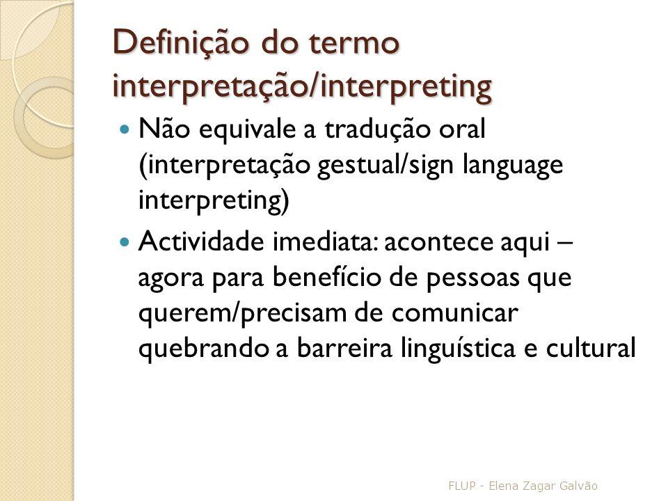 Definição do termo interpretação/interpreting