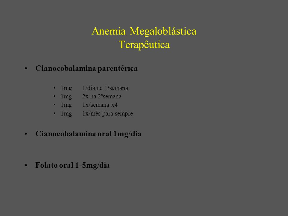 Anemia Megaloblástica Terapêutica