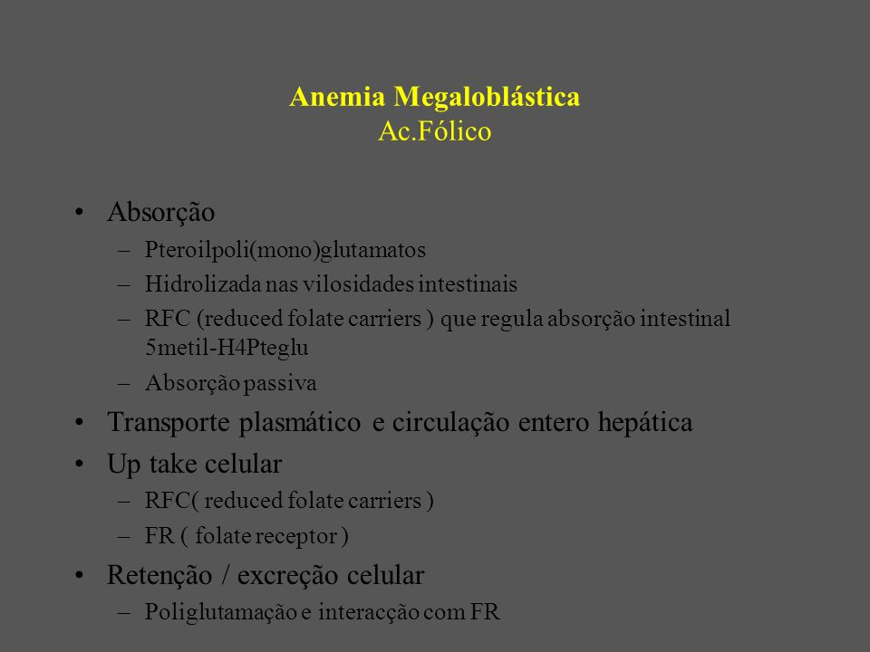 Anemia Megaloblástica Ac.Fólico
