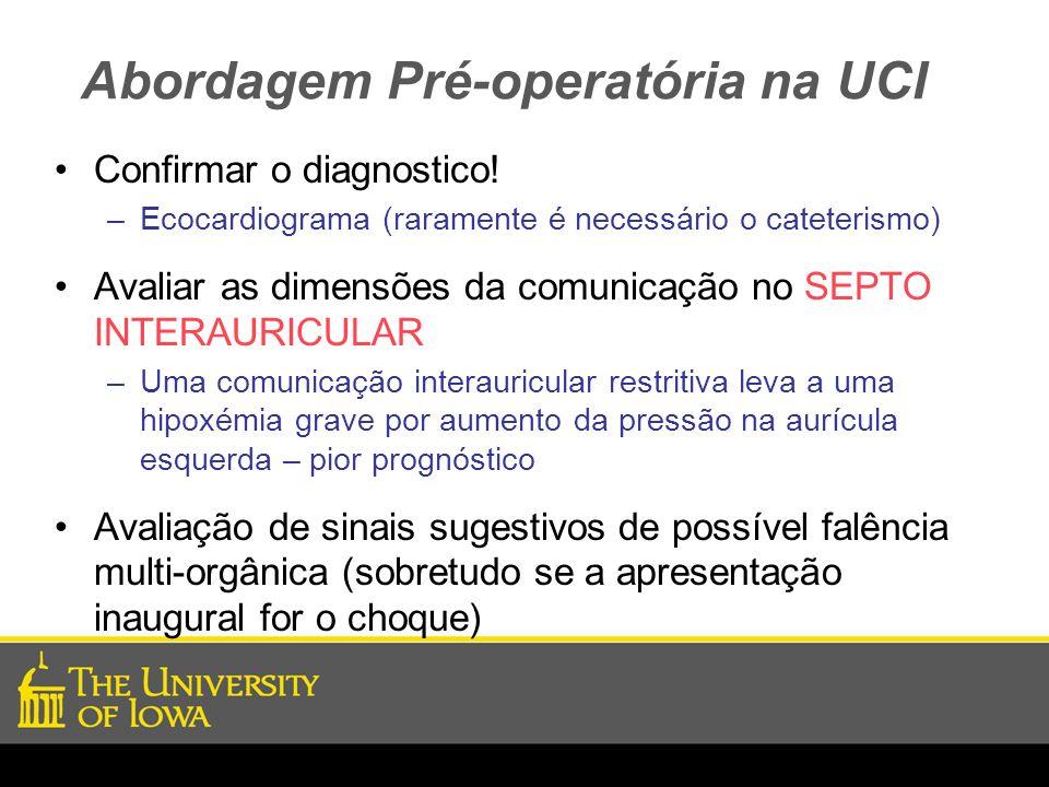 Abordagem Pré-operatória na UCI